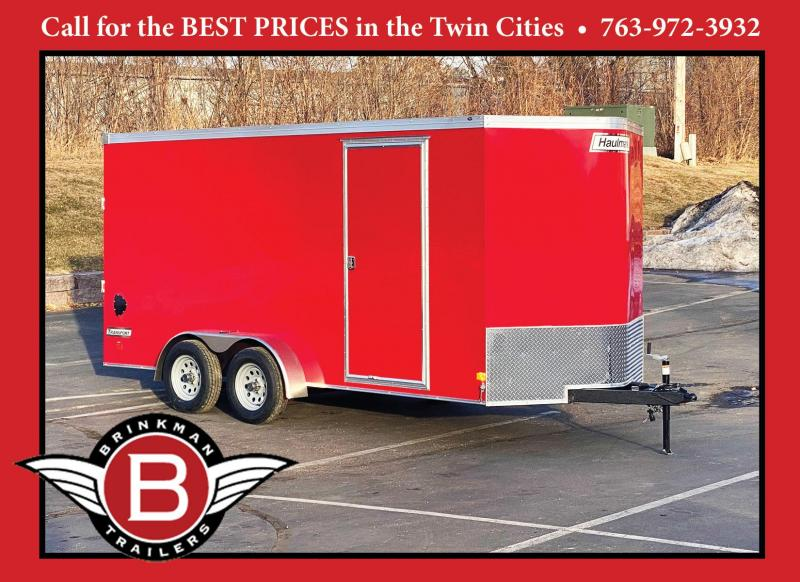 Premium Haulmark 7x16 Enclosed Cargo Trailer - Rear Ramp - 7' Interior