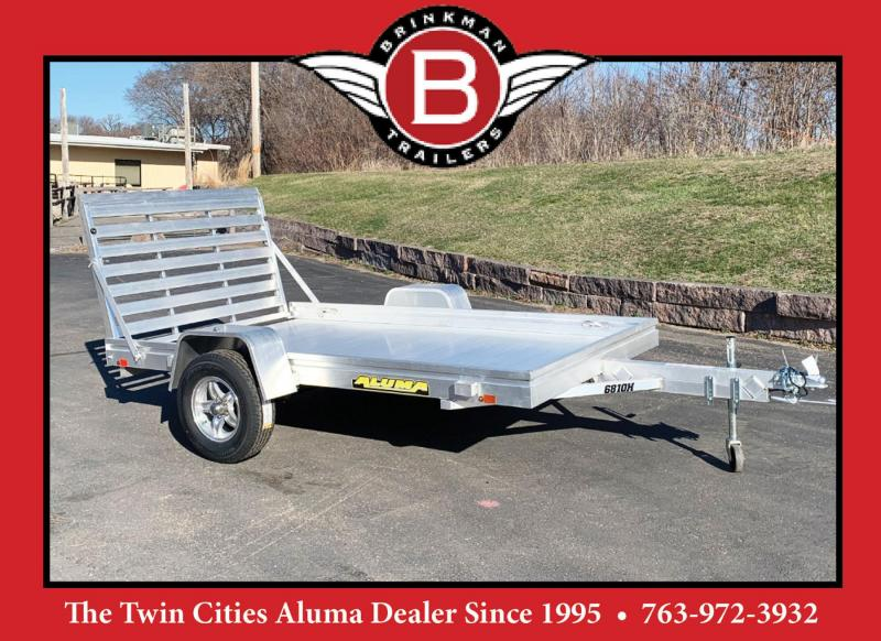 Aluma 6810H (68x10) Heavy Duty Utility Trailer - Full Rear Ramp!