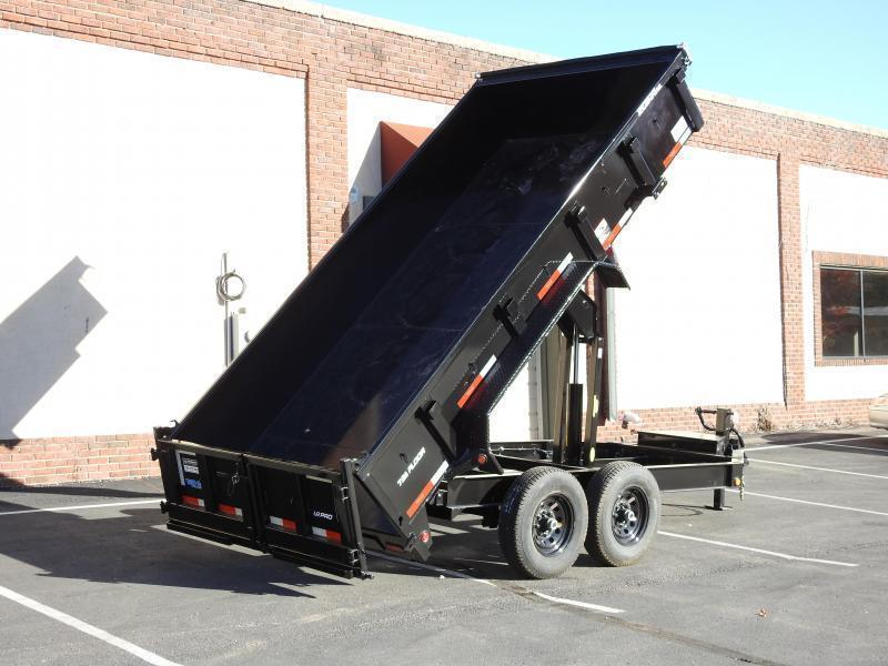Heavy Duty Top Hat 7x14 Dump Trailer - 14,000# GVWR w/ Scissor Lift/ Tarp System!