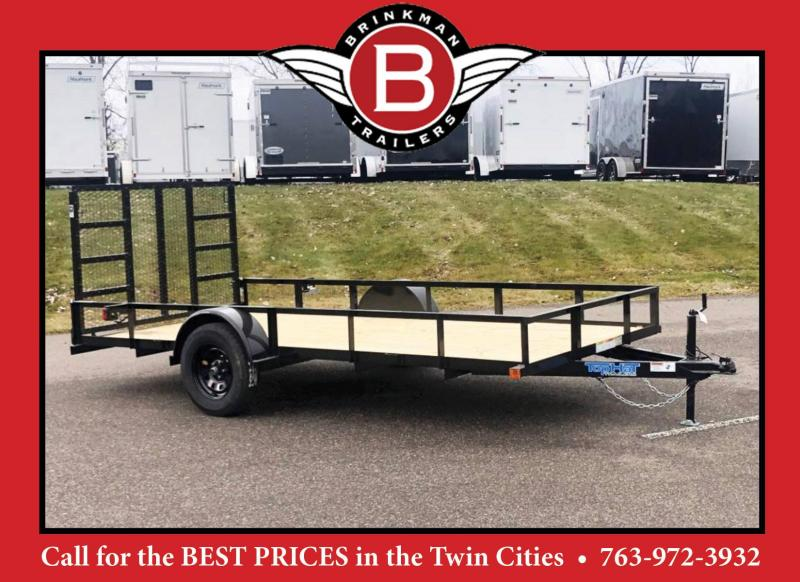 "Top Quality Top Hat 77"" x 14' Utility Trailer w/ Ramp - GREAT VALUE"