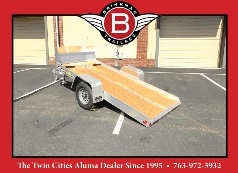 "Aluma 8605 (50""x10') Aluminum Tilt Bed Snowmobile/ATV Trailer"