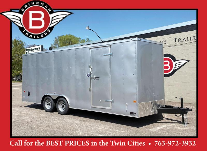 Deluxe American Hauler 8.5x20 Enclosed Trailer - 7' Int. - Rear Ramp!