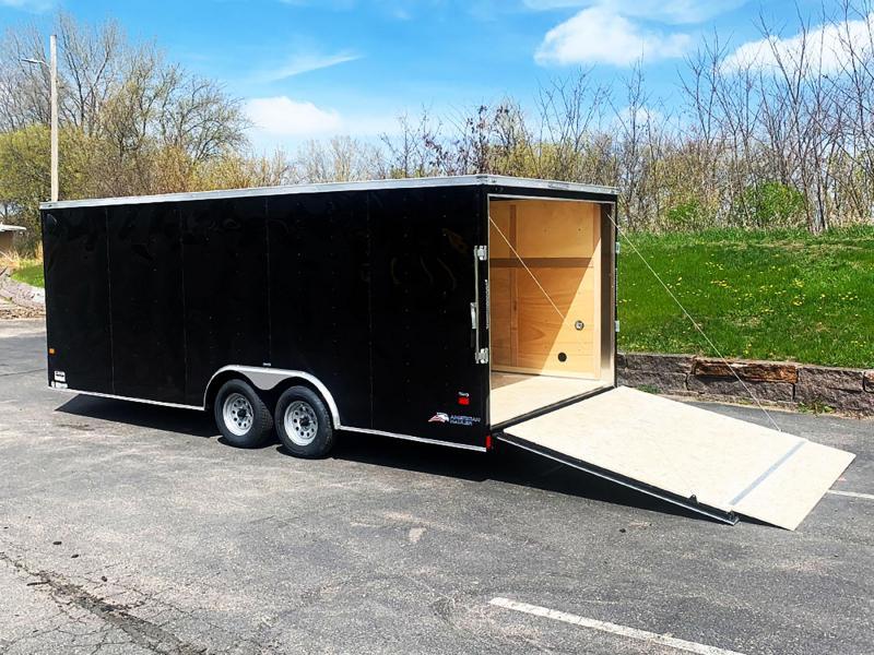 "American Hauler 8.5x20 Enclosed Car Trailer - 6'6"" Int. - Rear Ramp!"