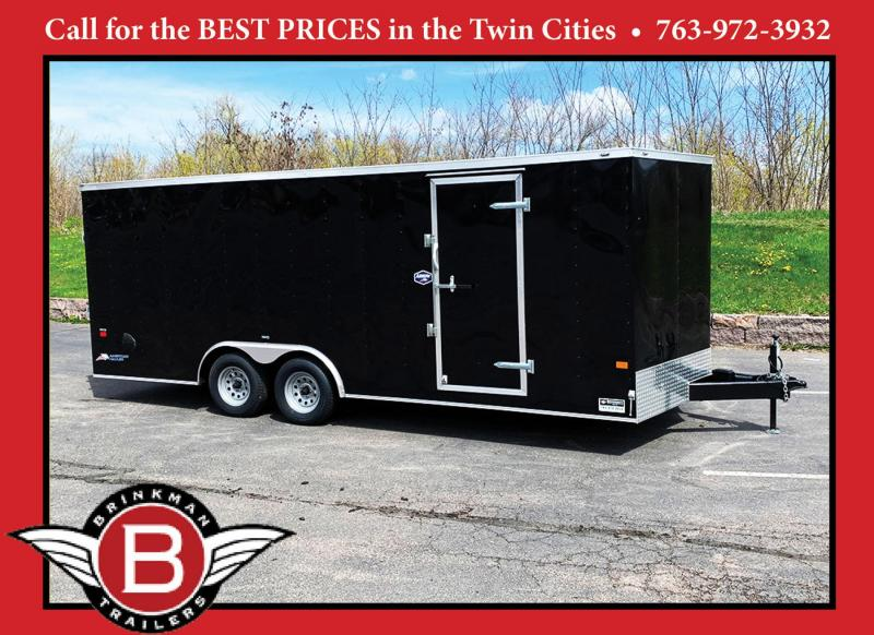 "American Hauler 8.5x20 Enclosed Car Trailer - 6'6"" Int. - Rear Ramp!"