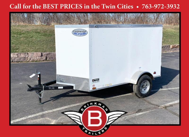 Continental 5x8 Enclosed Trailer - Rear Ramp!