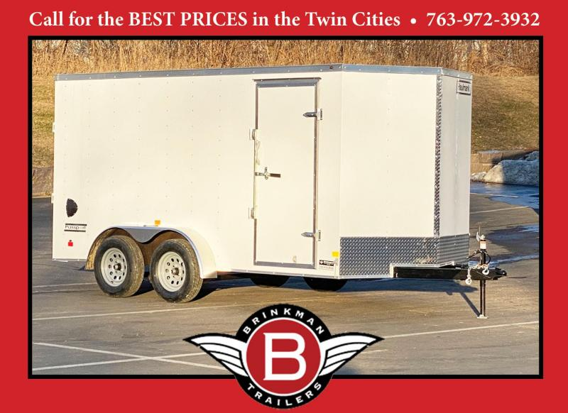 "Haulmark 7 x 14 Enclosed Trailer w/ 6'6"" Interior and Ramp- Hot Price!"