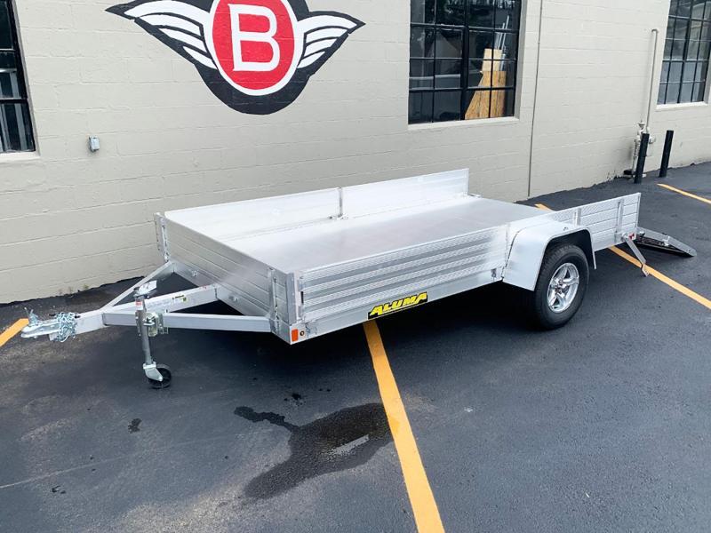 Aluma 8112 SR (81x12) Aluminum ATV Trailer - Side Ramps!