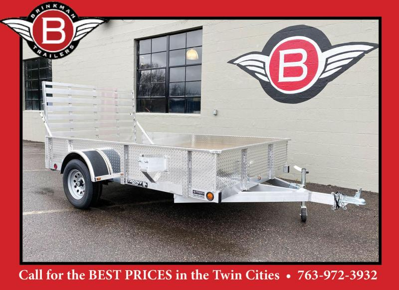 Quality Trophy 6.5x10 Aluminum Utility Trailer - Multi Position Rear Ramp!