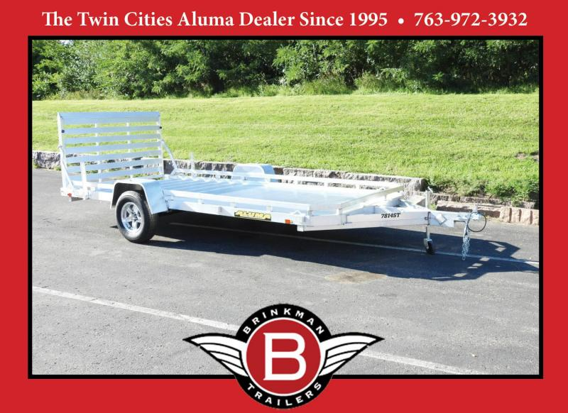 Aluma 7814 ST Aluminum Utility Trailer - 3500# Axle - ATV/UTV!