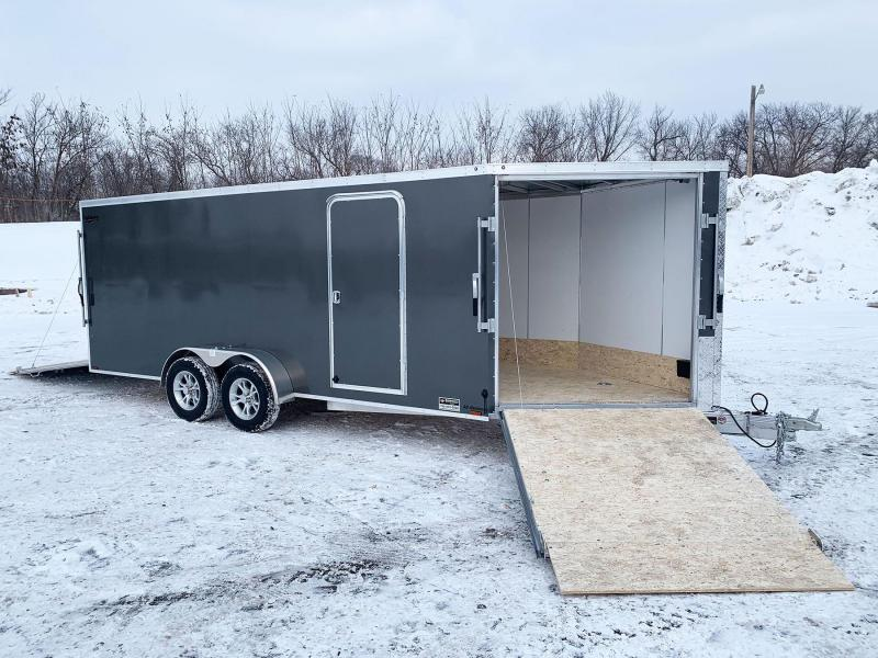 Lightning 7x23 Aluminum Enclosed Snowmobile Trailer - PHENOMENAL BUY!