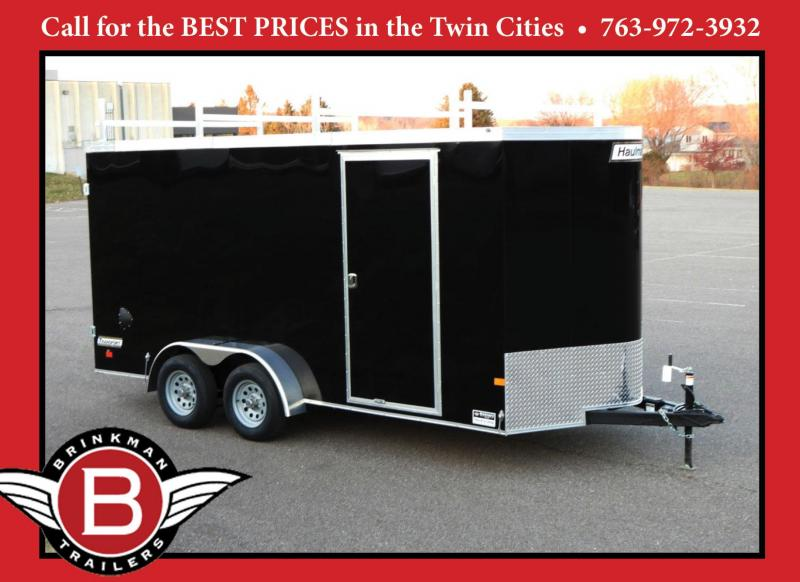 Premium Haulmark 7x16 Enclosed Contractor Trailer - 7' Int- DBL Doors!