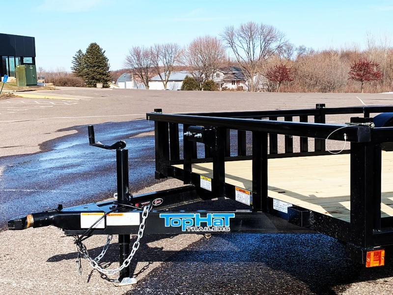 "Top Quality Top Hat 83x12 Utility Trailer - 54"" Side Load Ramps - Rear Ramp!"