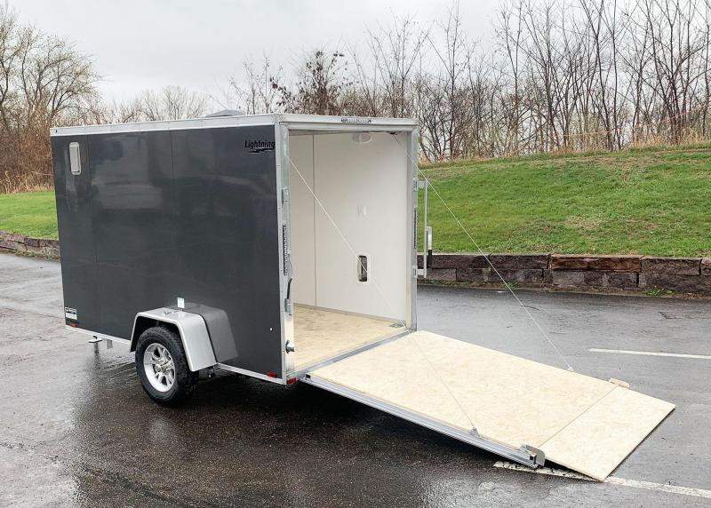 "Lightning 6x10 Aluminum Enclosed Trailer - 6'3"" Int. - Rear Ramp!"