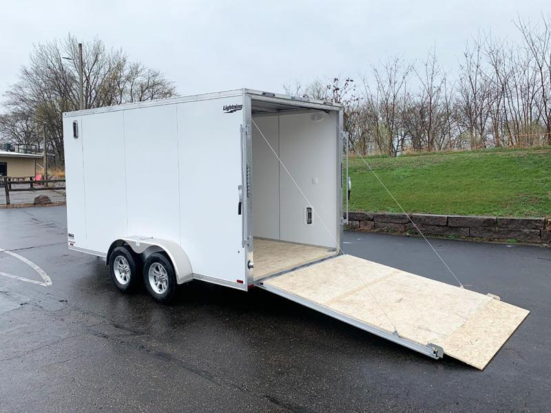 "Lightning 7x14 Aluminum Enclosed Trailer - 7'3"" Int. - Rear Ramp!"