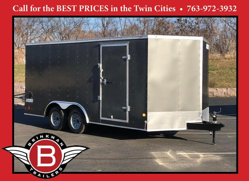 Haulmark 8.5'x16' Enclosed V-Nose Trailer with Rear Ramp - GREAT VALUE