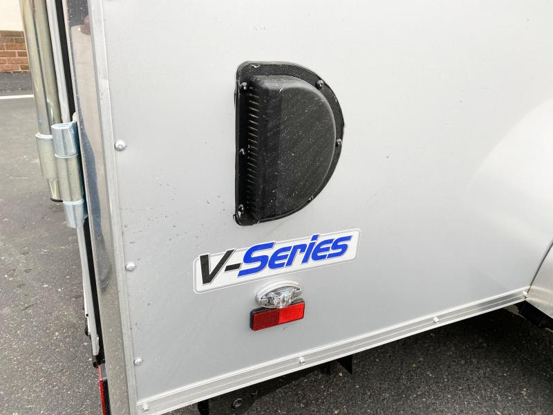 Deluxe Continental 6x12 Enclosed Cargo Trailer - Rear Ramp Door
