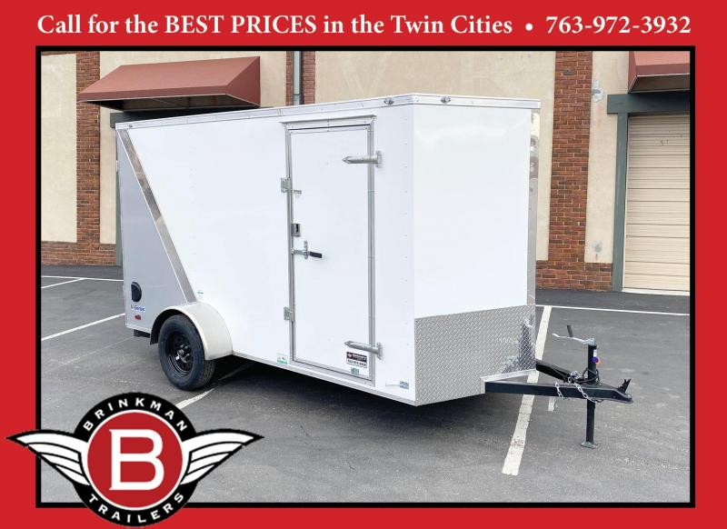 Deluxe Continental 6x12 Enclosed Trailer - Rear Ramp!