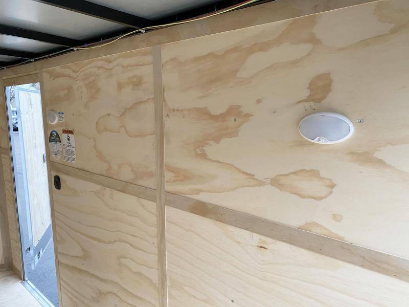 Deluxe Continental 6x12 Enclosed Cargo Trailer - Rear Ramp Door