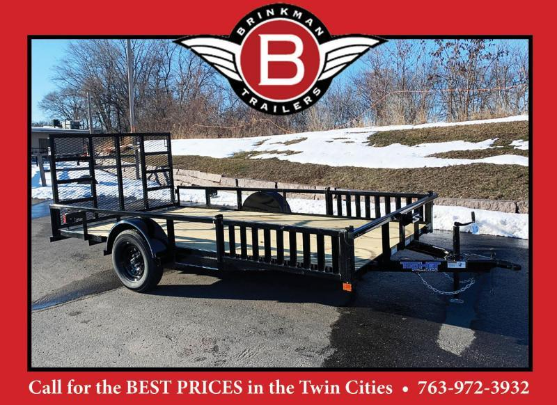 "Top Quality Top Hat 83"" x 14' Utility Trailer w/ 54"" Side Load Ramps - BUILT TO LAST!"