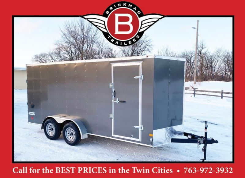 "Haulmark 7 x 16 Enclosed Trailer with Rear Ramp - 6'6"" Interior"
