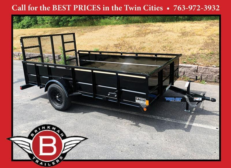 """Top Quality Top Hat 83x12 Utility Trailer - 24"""" Solid Sides - 48"""" Rear Ramp!"""