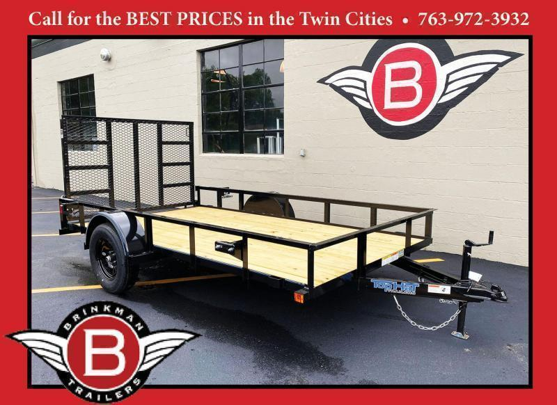 Top Quality Top Hat 77x12 Utility Trailer - Rear Ramp!
