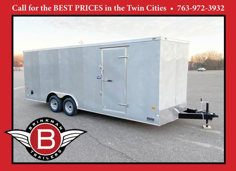 American Hauler 8.5x20 Enclosed Cargo Car Trailer - Rear Ramp Door