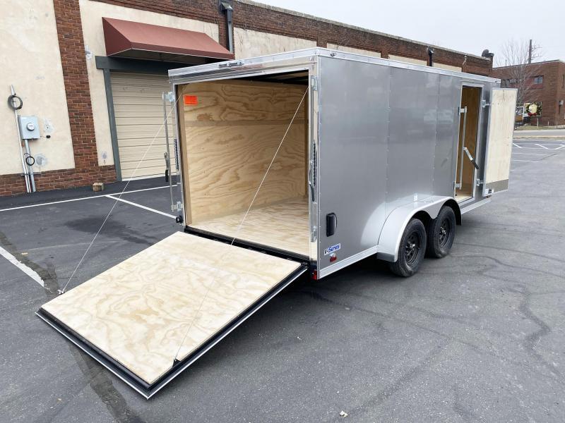 Continental Cargo 7x16 V-Nose Enclosed Cargo Trailer - Rear Ramp