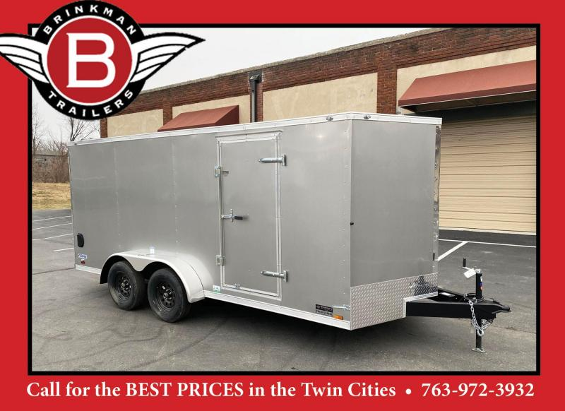 Continental Cargo 7x16 V-Nose Enclosed Cargo Trailer - Rear Ramp