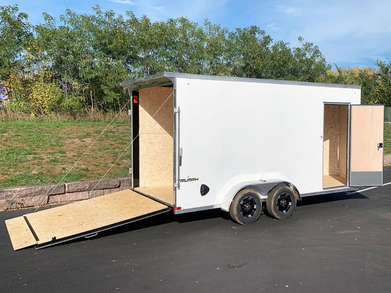 "Formula 7x16 Enclosed Cargo UTV Trailer - 7'6"" Int. - Rear Ramp!"