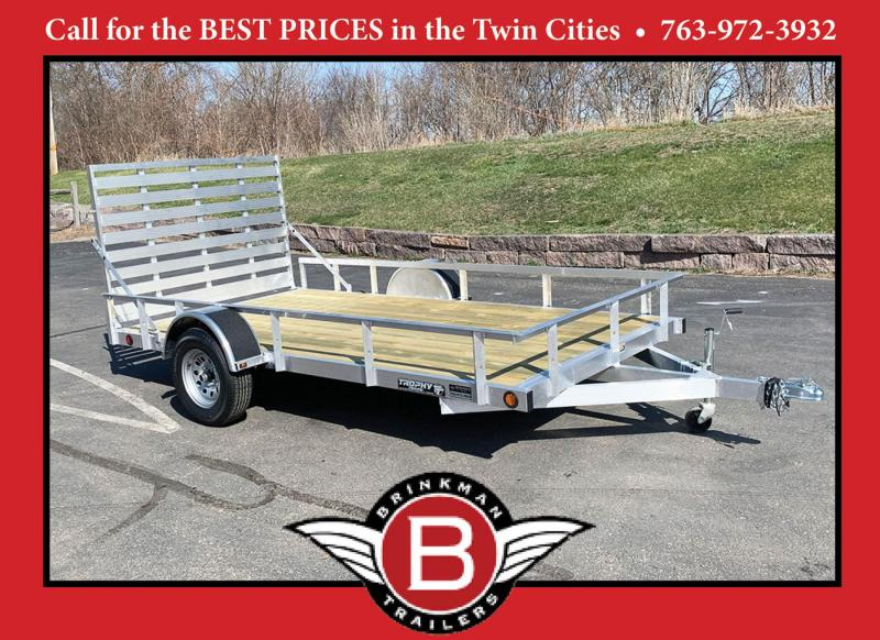Quality Trophy 6.5x12 Aluminum Utility Trailer - Rear Ramp!