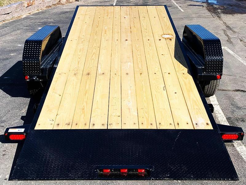 Heavy Duty Top Hat 83x 22 Tilt Bed Car/Bobcat Hauler - 14,000# GVWR!