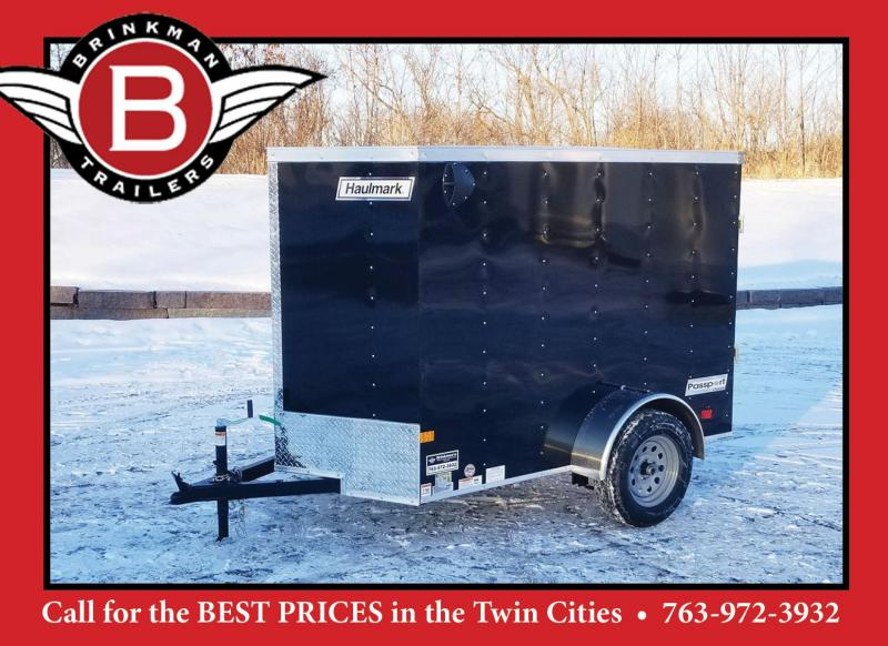 Haulmark 5 x 8 V-Nose Enclosed Trailer - Deluxe Model w/Rear Ramp Door - Awesome Buy!