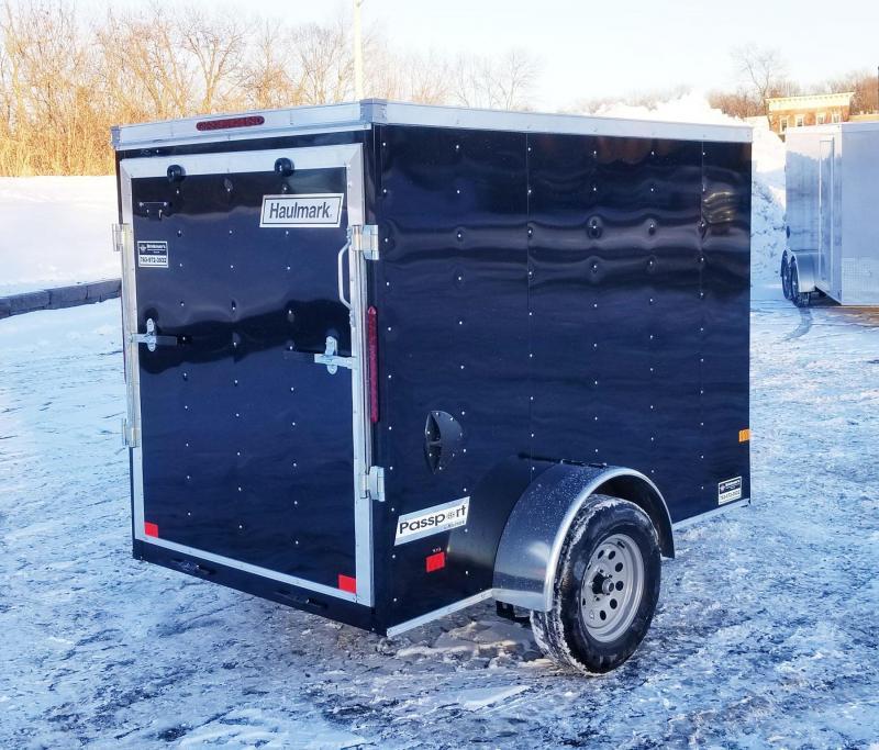 Haulmark 5 x 8 V-Nose Enclosed Trailer - Deluxe Model w/Rear Ramp Door - Awesome Buy!