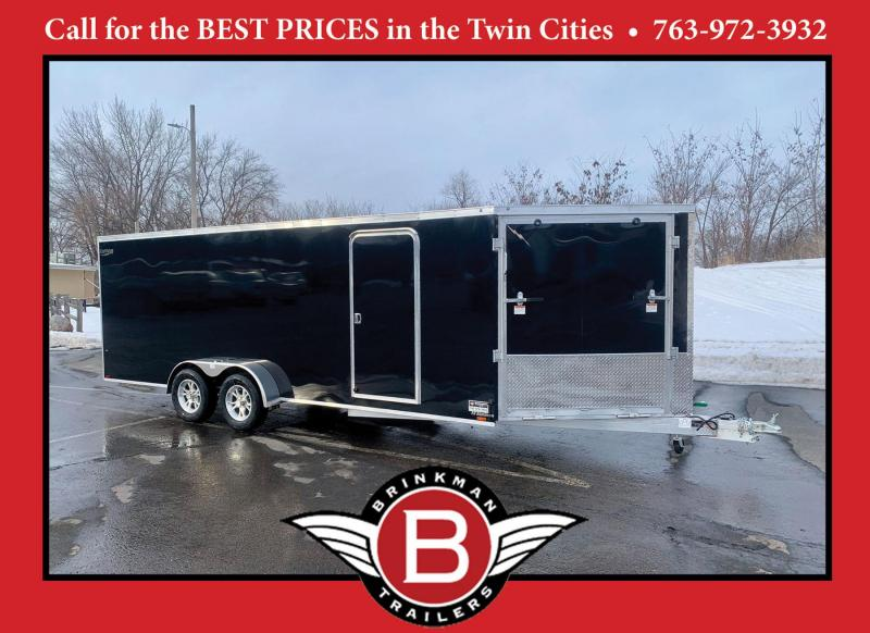 Lightning 7x25 Aluminum Enclosed Snowmobile Trailer
