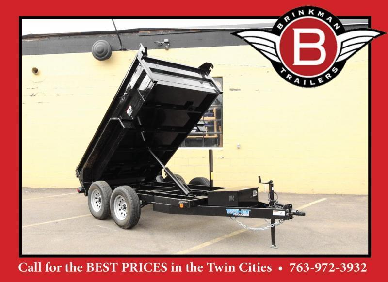 Quality Top Hat 5 x 10 Dump Trailer 7000# GVWR w/Single Cylinder Lift System!