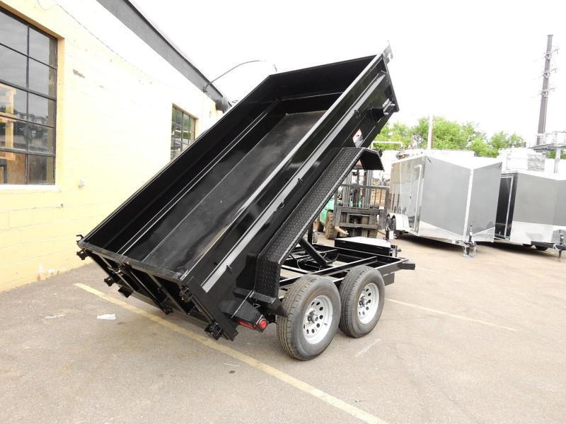 Quality Top Hat 5 x 10 Dump Trailer 7000# GVWR w/Single Cylinder Lift System!