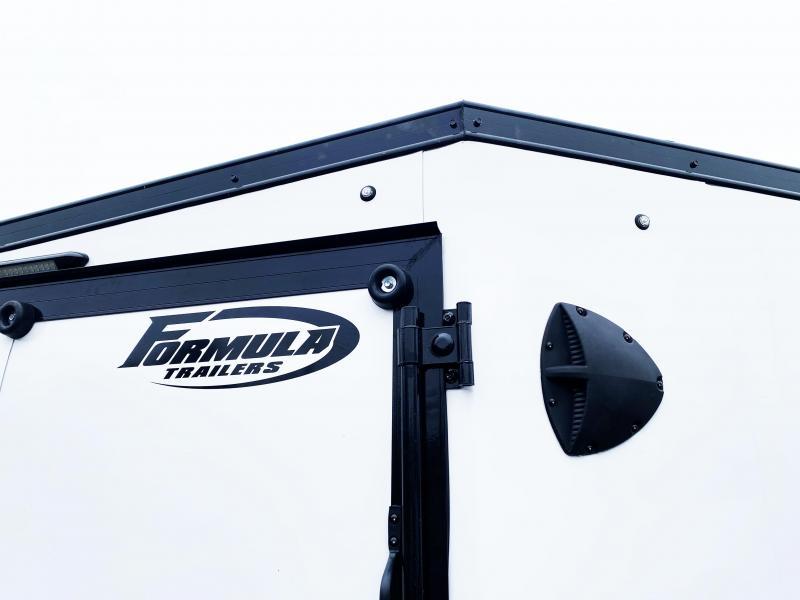 Formula 7x29 (24'+5'V) Aluminum Enclosed Snowmobile Trailer - SUPREME