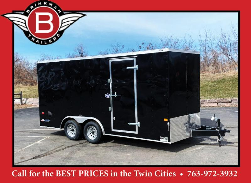 American Hauler 8.5x16 Enclosed Trailer - 7' Int. - Rear Ramp!