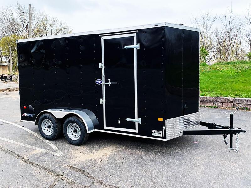 Deluxe American Hauler 7x14 Enclosed Trailer - 7' Int. - Rear Ramp!