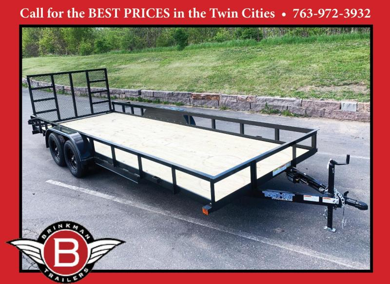 Top Quality Top Hat 83x20 Tandem Axle Utility Trailer - Rear Ramp!