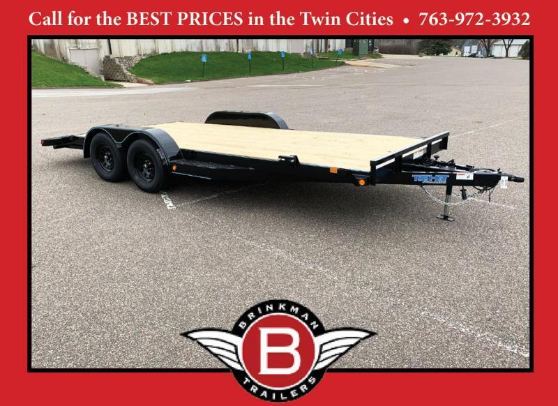 Top Quality Top Hat 83x18 Car/Equipment Hauler - Tuck Under Ramps!