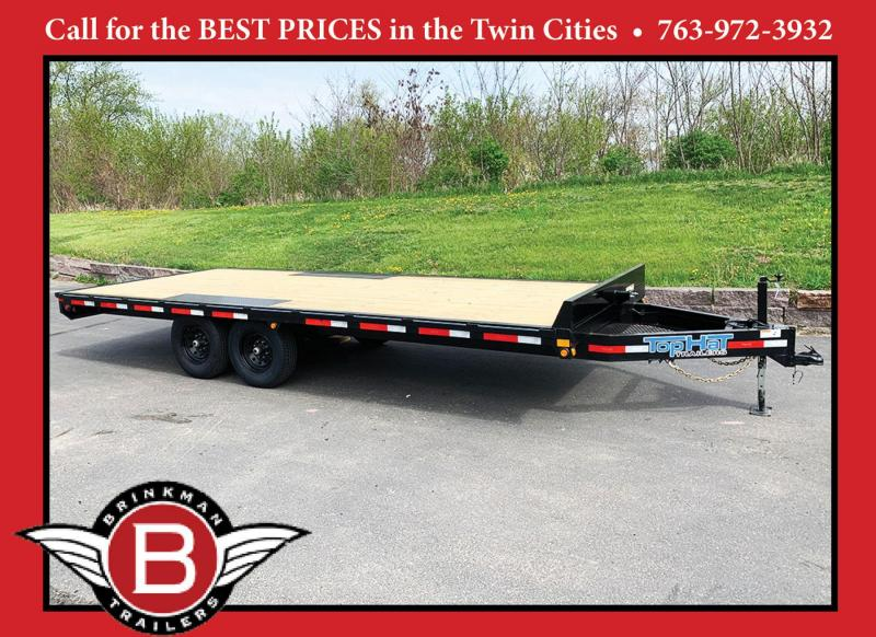 Top Quality Top Hat 101x20 Deck Over Car/Equipment Hauler - Tuck Under Ramps - 14,000# GVWR!