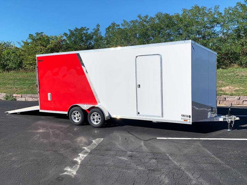 """Lightning 7x20 Aluminum Enclosed Trailer - 7'3"""" Int. - Rear Ramp!"""