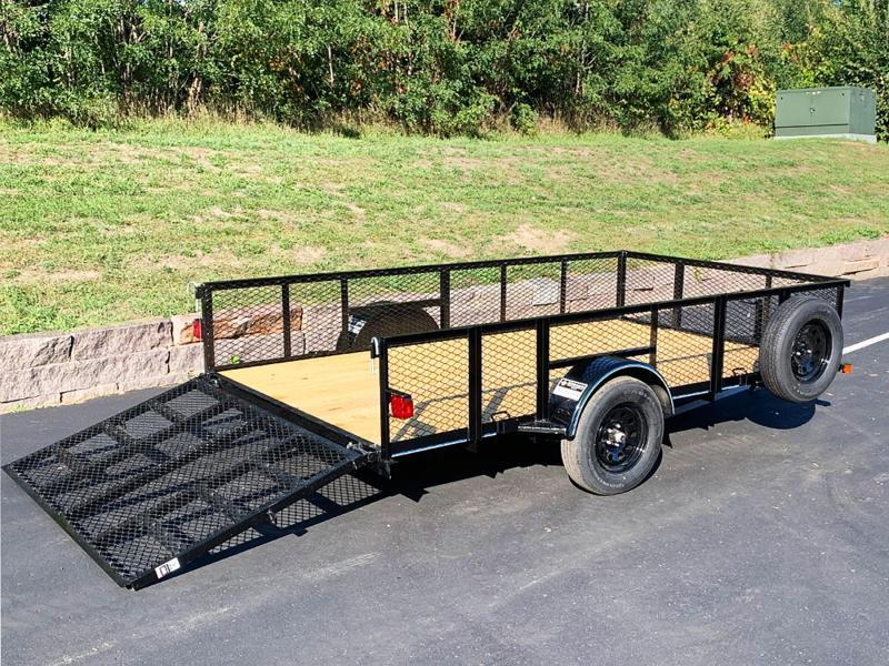 """Top Quality Top Hat 83x12 Utility Trailer - 24"""" Mesh Sides - Rear Ramp!"""