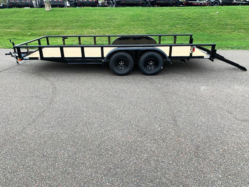 Top Quality Top Hat 83x18 Tandem Axle Steel Utility Trailer