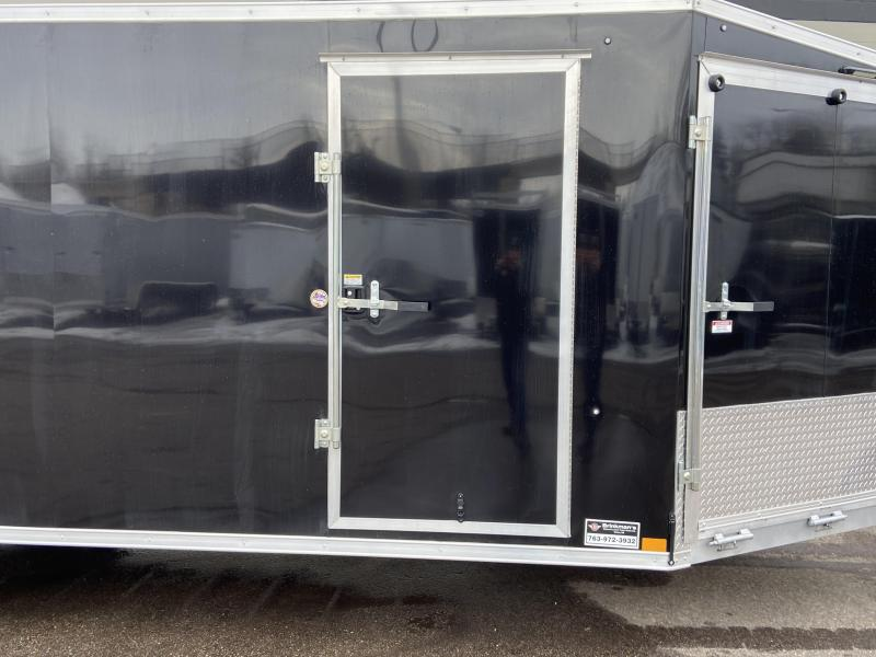 Formula 7x29 (24'+5'V) Aluminum Enclosed Snowmobile Trailer - SUPREME