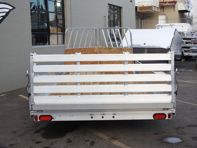 Aluma 8114 SRW Aluminum ATV/Snowmobile Utility Trailer w/Front Ramp!