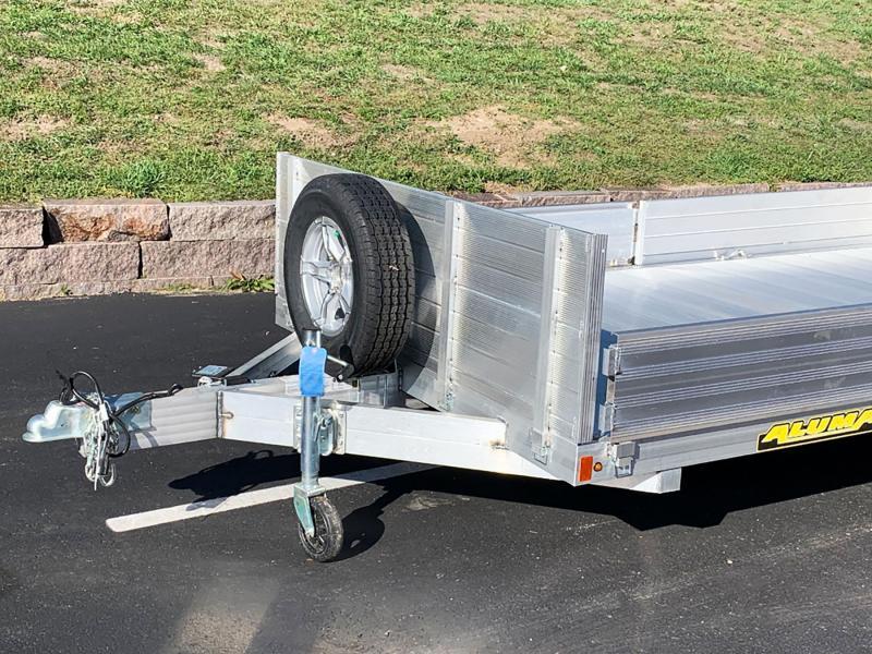 Aluma 8116TA-SR Bi-Fold Aluminum Tandem Torsion Axle Trailer - 7,000# GVWR!