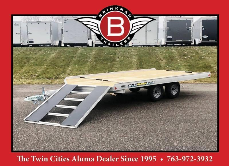 Aluma 8614/13B 8.5x14 3-Place Aluminum Snowmobile Trailer with Brakes